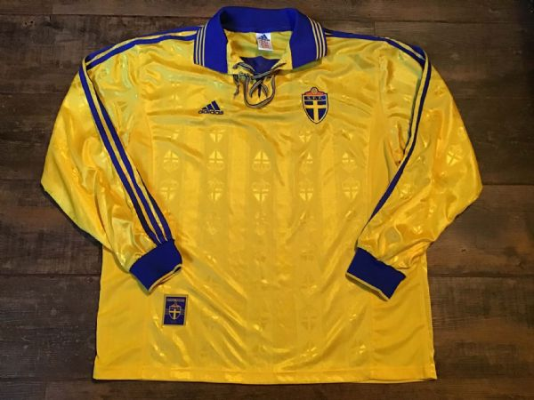 1998 1999 Sweden Home L/s Football Shirt XL